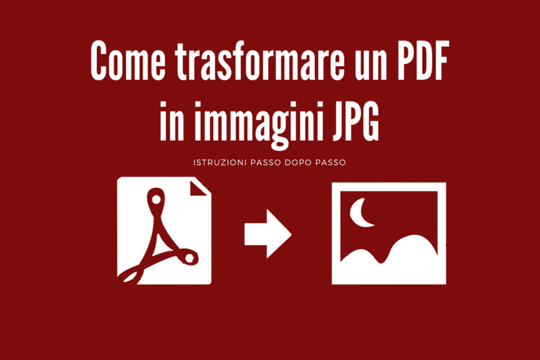Come trasformare un PDF in immagini JPG
