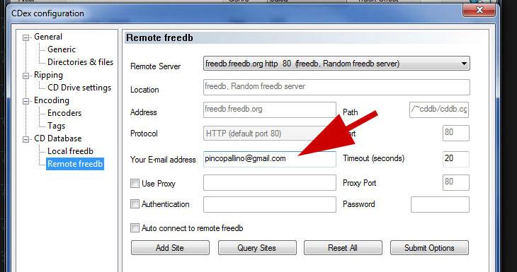 Email per db free